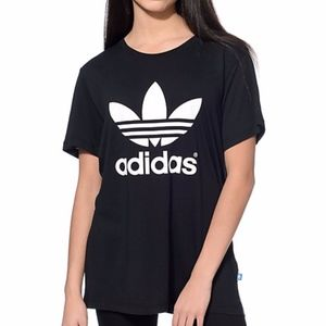 NEW WITH TAGS Adidas Black & White Trefoil Shirt